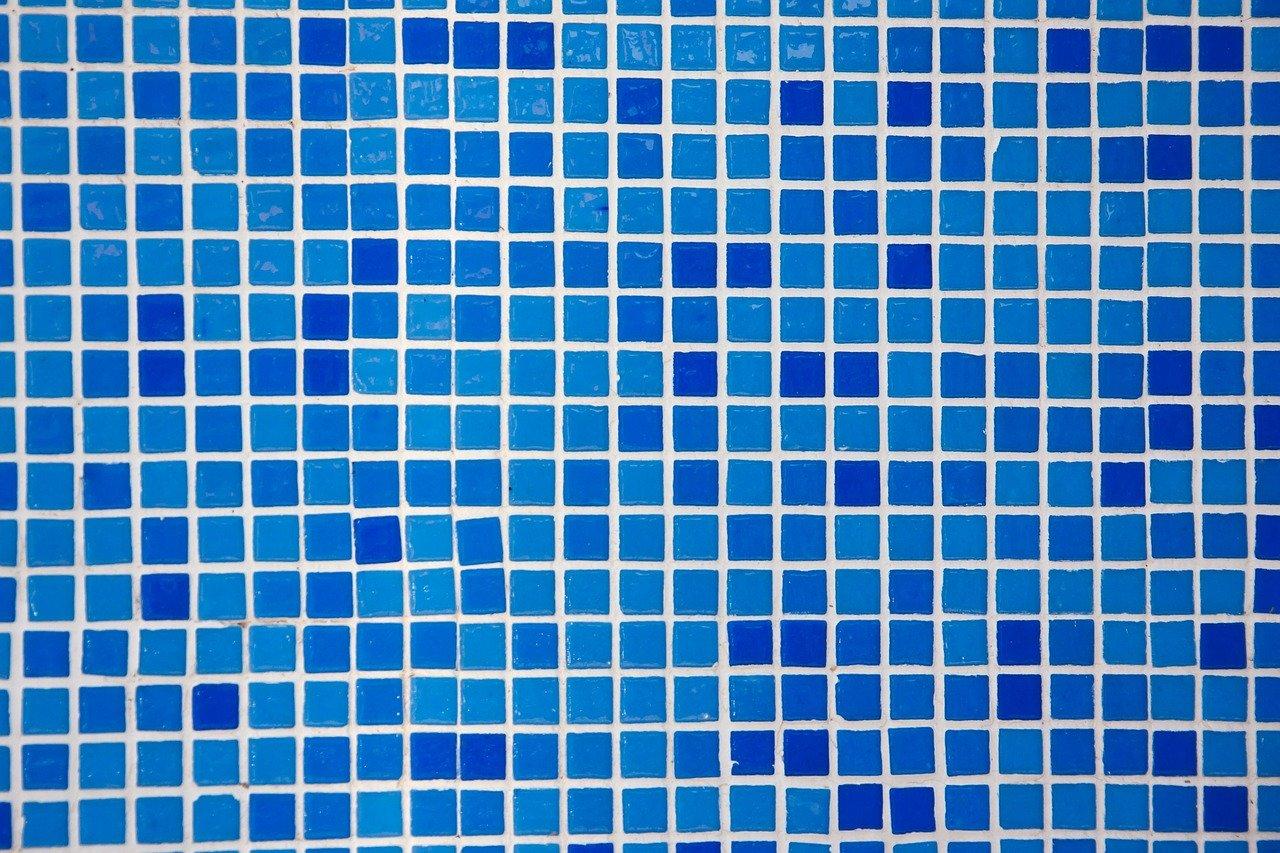 blaue Wandfliesen
