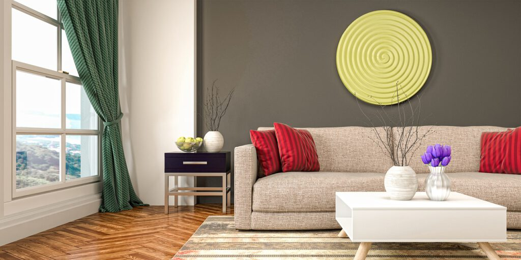 Große Couch Wohnzimmer Polster